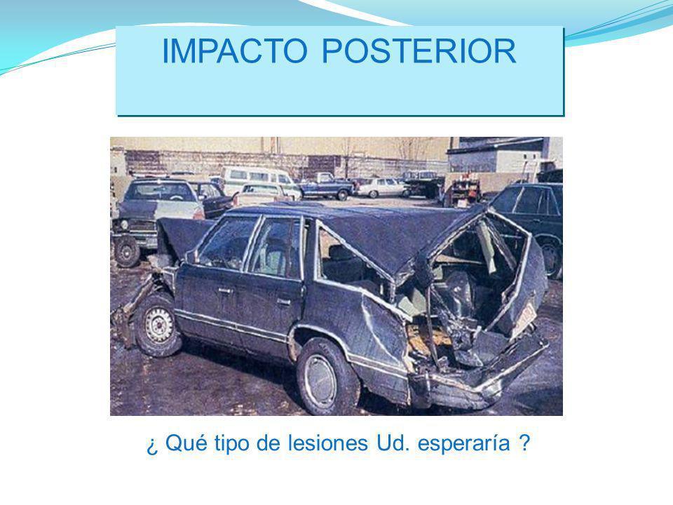 IMPACTO POSTERIOR ¿ Qué tipo de lesiones Ud. esperaría ?