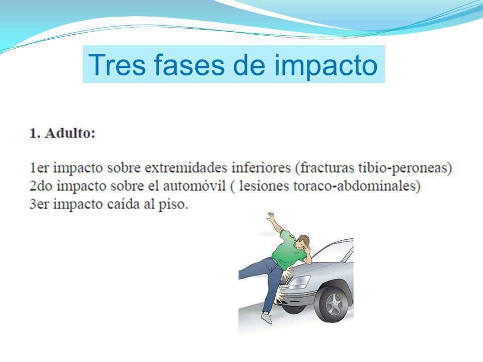 Tres fases de impacto