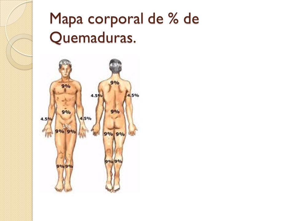 Mapa corporal de % de Quemaduras.