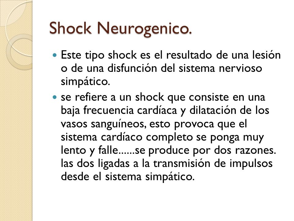 Shock Neurogenico.