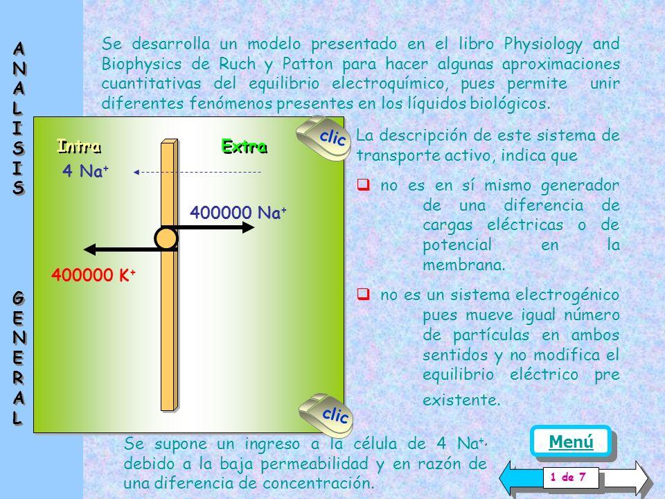 Esta ecuación permite analizar las condiciones de estado estacionario de los diferentes iones que se encuentran separados por una membrana que adquiere cargas eléctricas o una diferencia de potencial.