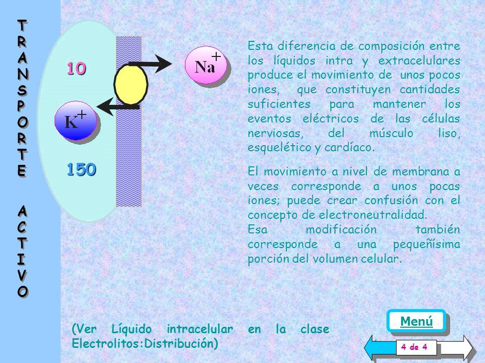Las variaciones de concentración o los conceptos de electroneutralidad se refieren habitualmente a Equivalentes químicos (del orden de 6.06 * 10 23 moléculas o iones).s Los movimientos que se producen en la membrana celular, se refieren a iones o moléculas.