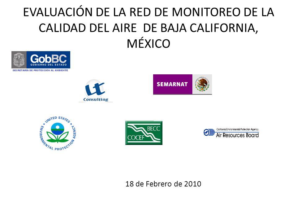 Validación Porcentaje de datos confiables registrados en el 2005 de contaminantes monitoreados en las por la red de BC.