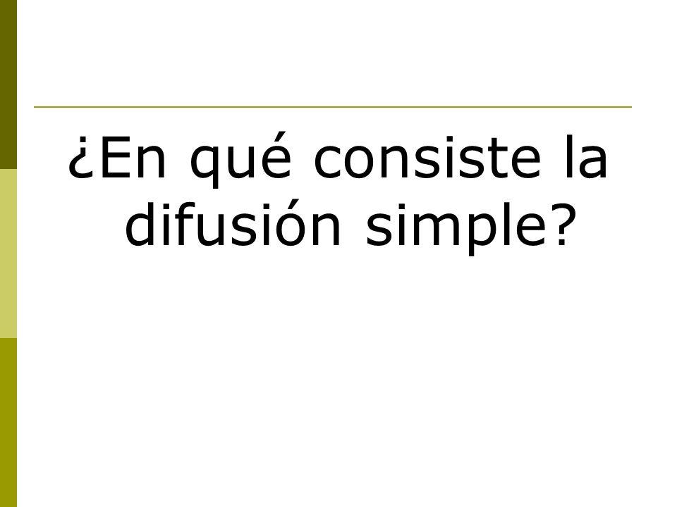 ¿En qué consiste la difusión simple?
