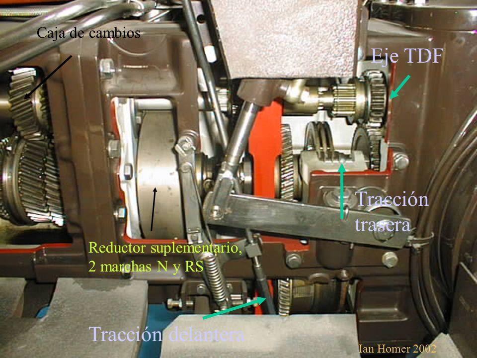 Tracción delantera Tracción trasera Eje TDF Caja de cambios Reductor suplementario, 2 marchas N y RS Ian Homer 2002
