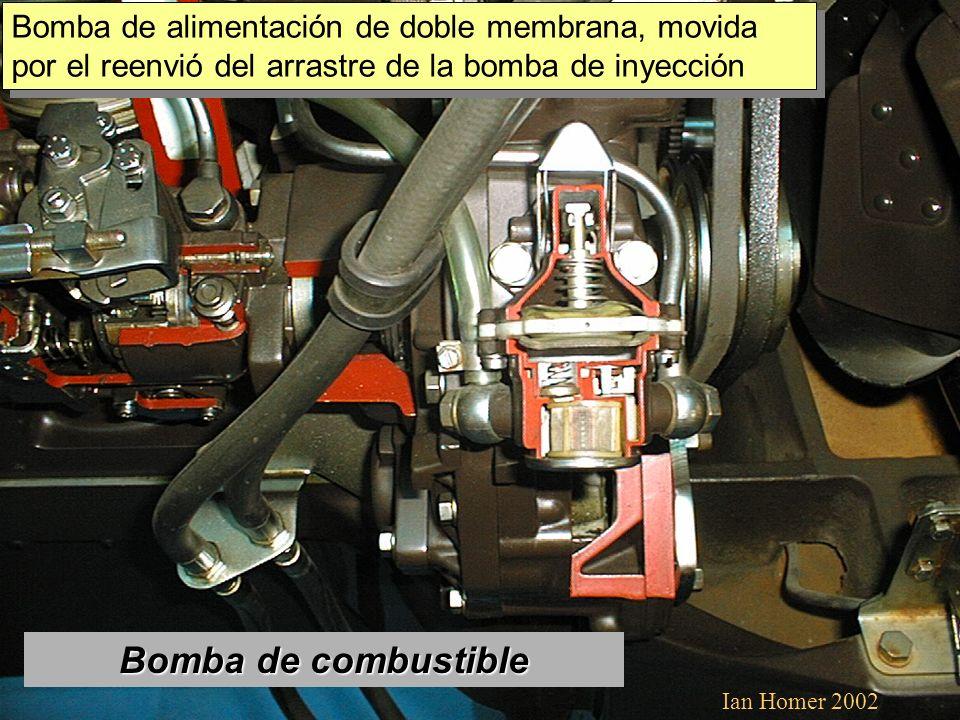Bomba de combustible Bomba de alimentación de doble membrana, movida por el reenvió del arrastre de la bomba de inyección Ian Homer 2002