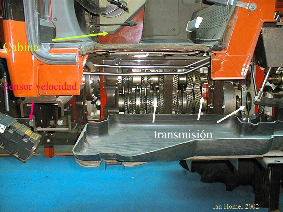 Sistema refrigeración Bomba inyectora Alternador Bomba de aceite Bomba combustible Filtro aire Radiador agua Radiador aceite Ian Homer 2002