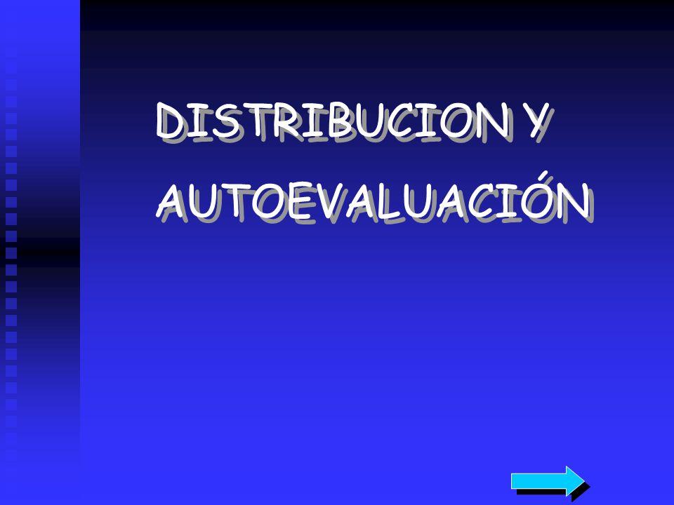 DISTRIBUCION Y AUTOEVALUACIÓN DISTRIBUCION Y AUTOEVALUACIÓN