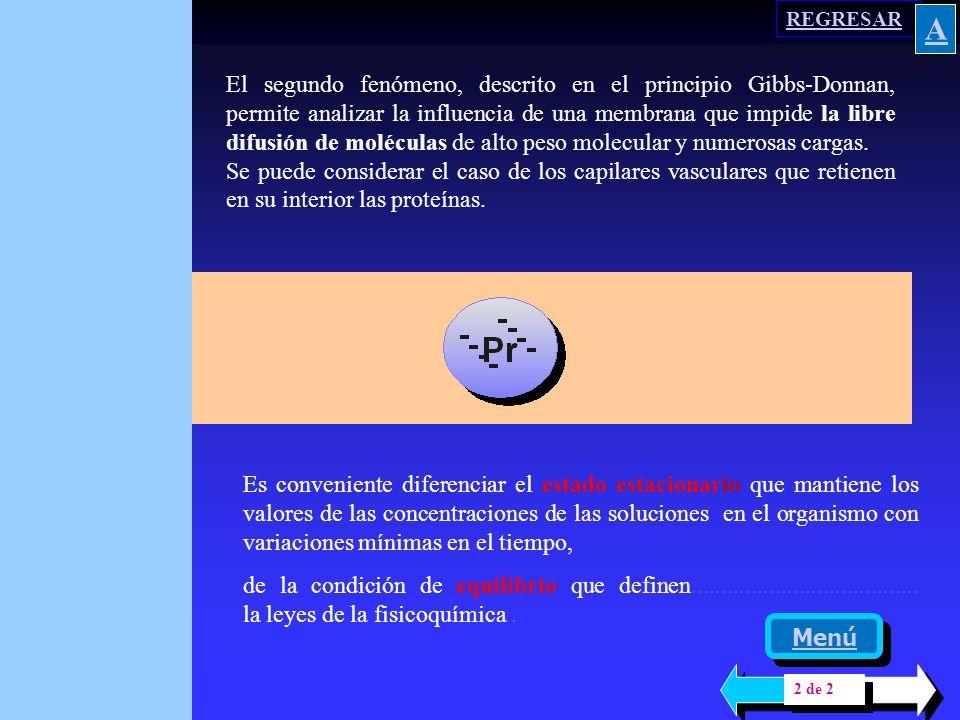 180 El principio de electroneutralidad se cumple, pues el número de cargas positivas es igual a las negativas, tanto en el espacio intra como extramembrana.