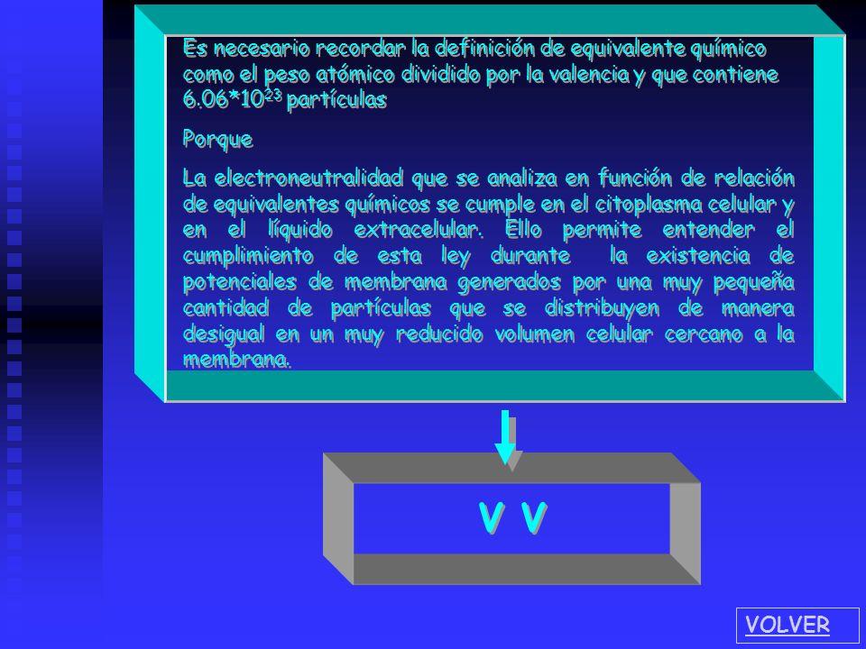 Es necesario recordar la definición de equivalente químico como el peso atómico dividido por la valencia y que contiene 6.06*10 23 partículas Porque L