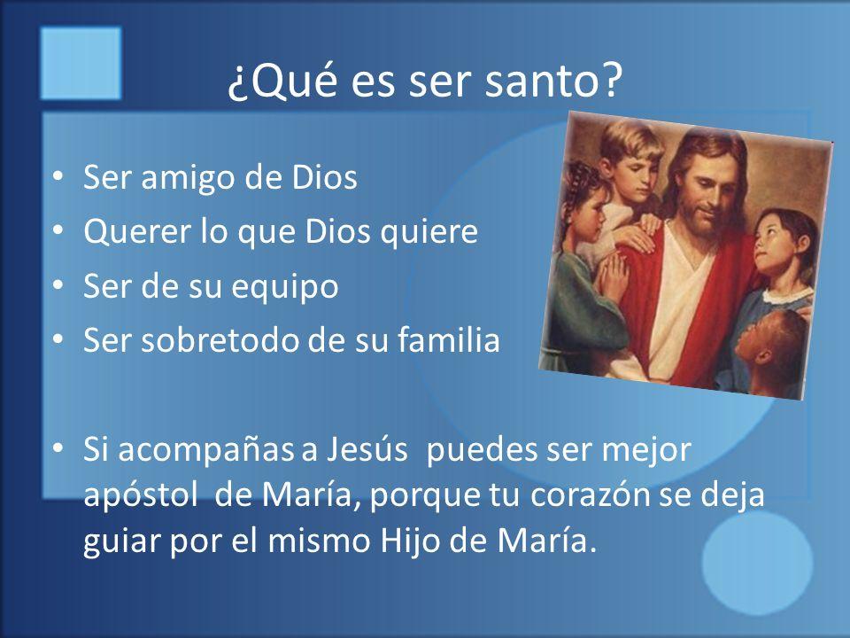 ¿Qué es ser santo.