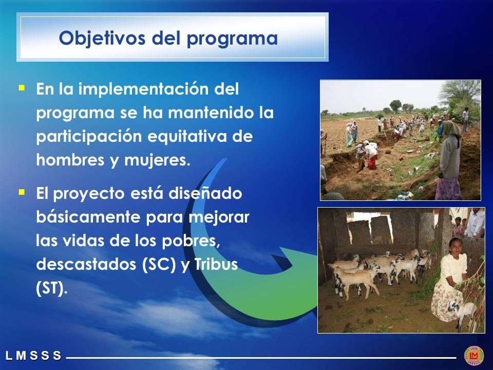 L M S S S En la implementación del programa se ha mantenido la participación equitativa de hombres y mujeres.