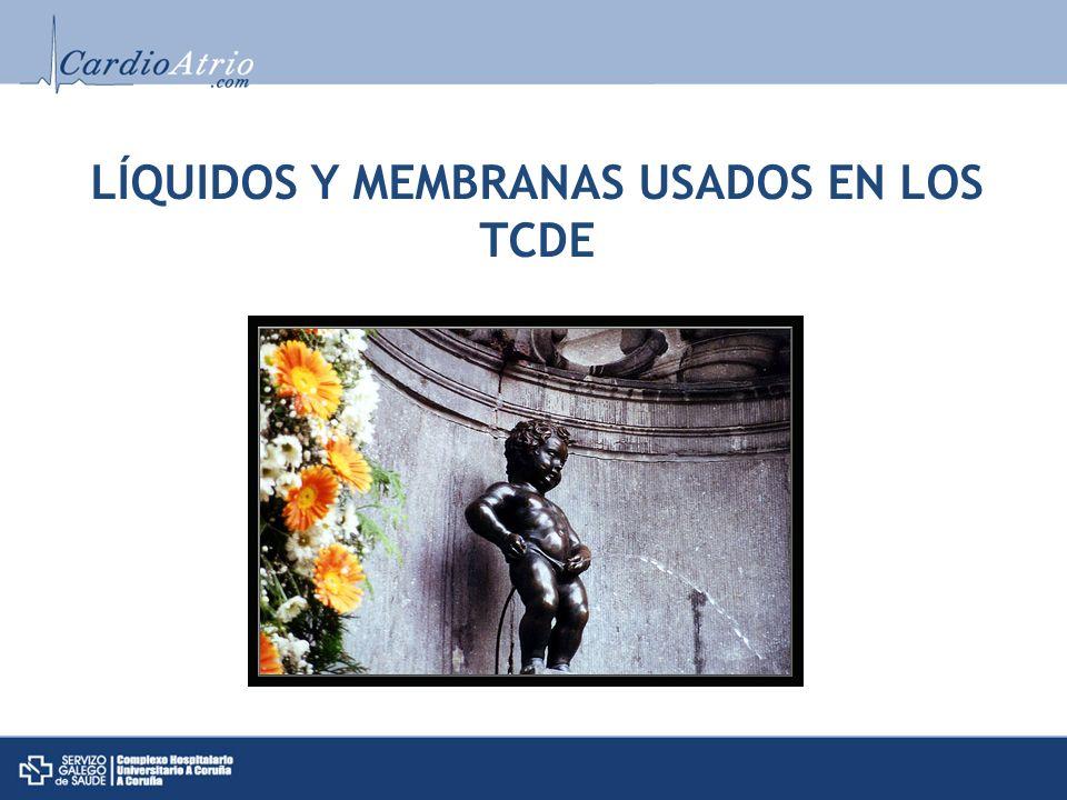 LÍQUIDOS Y MEMBRANAS USADOS EN LOS TCDE