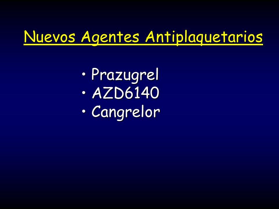Nuevos Agentes Antiplaquetarios PrazugrelPrazugrel AZD6140AZD6140 CangrelorCangrelor