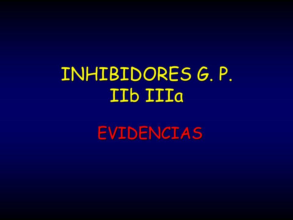 INHIBIDORES G. P. IIb IIIa EVIDENCIAS