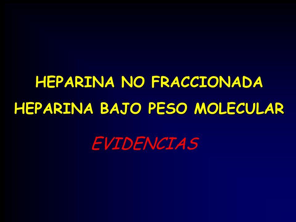 HEPARINA NO FRACCIONADA HEPARINA BAJO PESO MOLECULAR EVIDENCIAS