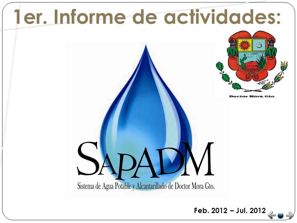 FUGAS DE AGUA POTABLE Semanalmente el SAPADM atiende un promedio de 4 reportes de fugas de agua potable siendo todas estas atendidas inmediatamente como prioridad del sistema.