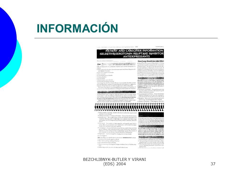 BEZCHLIBNYK-BUTLER Y VIRANI (EDS) 200437 INFORMACIÓN