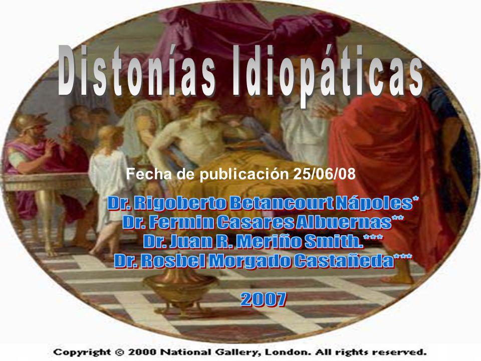 Datos clínicos de sospecha de distonía secundaria: HISTORIA CLÍNICA: Historia perinatal anormal.