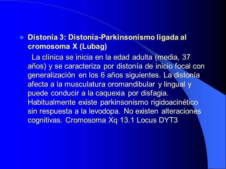 Distonías Primarias Distonía 1. La distonía de torsión idiopática de inicio precoz. Definida por Marsden y Harrison en 1974, se caracteriza por la apa