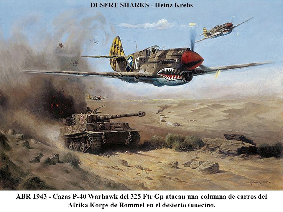 FW190 STURMGRUPPE FORMATION (detalle) - John Wallin Liberto El Oberstleutnant Walther Dahl en su Azul 13 lidera los Fw190 de la JG300 Wilde Sau.