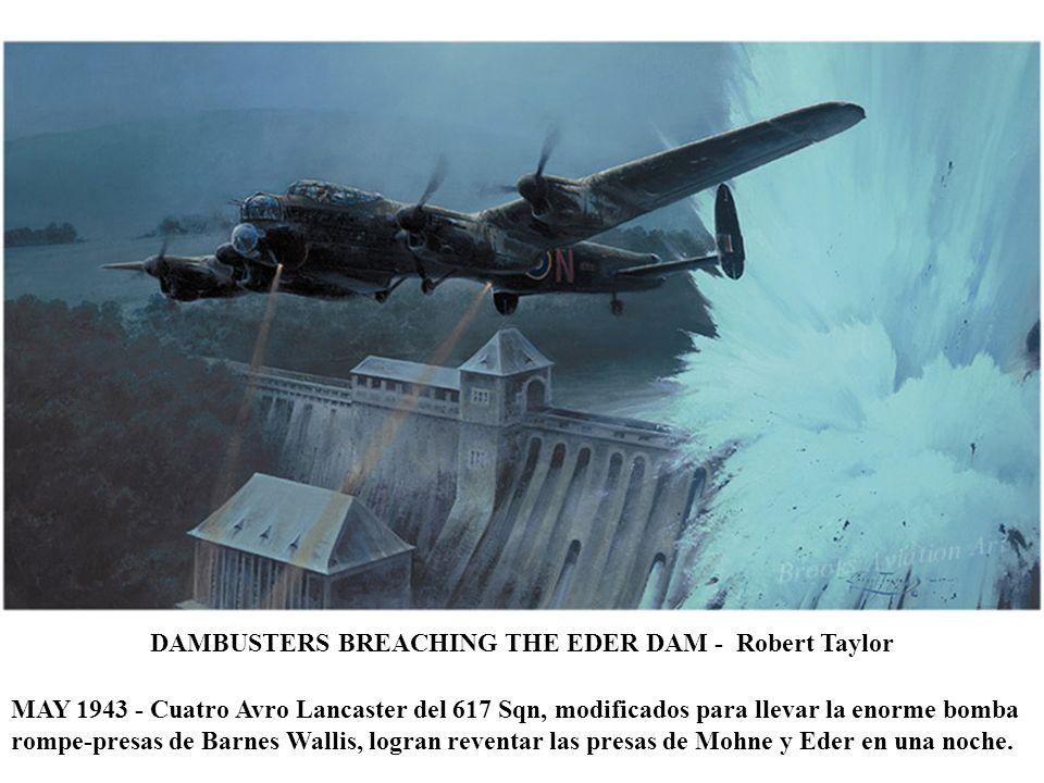DAYS OF THUNDER - Richard Taylor MAY 1944 - Cuatro P-47D Thunderbolts del 78 Fighter Group despegan de Duxford poco antes del desembarco en Normandía.
