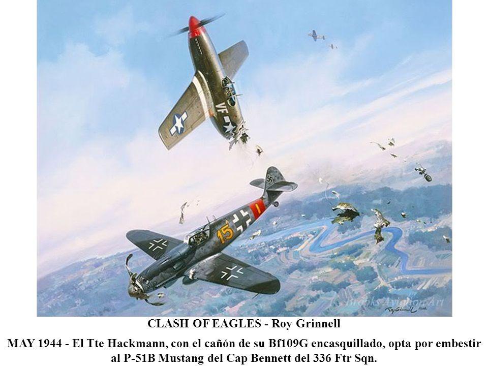 NARROW ESCAPE - Heinz Krebs SEP 1940 Batalla de Inglaterra: un renqueante He111 es acosado por un Spitfire de la RAF.