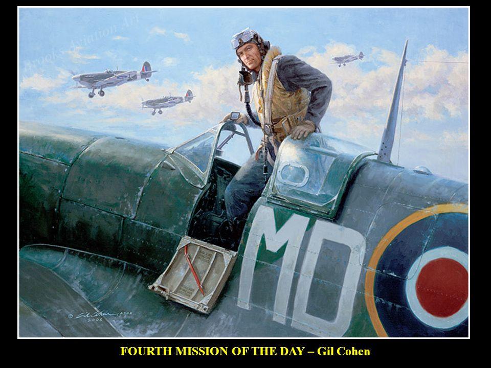 AGO 1944 – El Tte Burgwal del 322 (Dutch) Sqn usa la punta del plano de su Spitfire MkXIV para desviar una V-1 de su trayectoria e impedir que alcance Londres.