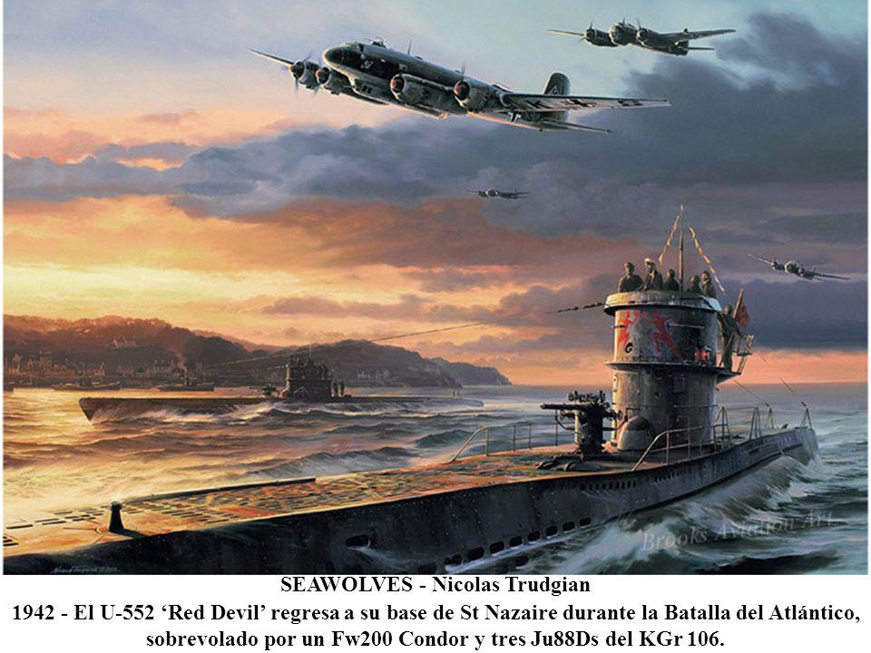LEO OF THE ZODIAC BOMBERS - Roy Grinnell 1944 - Pintura del morro de uno de los B-24 Liberators del 834 Zodiac Squadron del 486 Bomb Group.