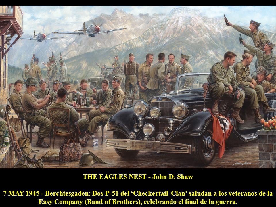 SUERTUDO - Carlos García 1944 - El piloto anglo-argentino Dick Lindsell con su Hurricane MkIIC Suertudo, lidera el ataque a un puente en Birmania.