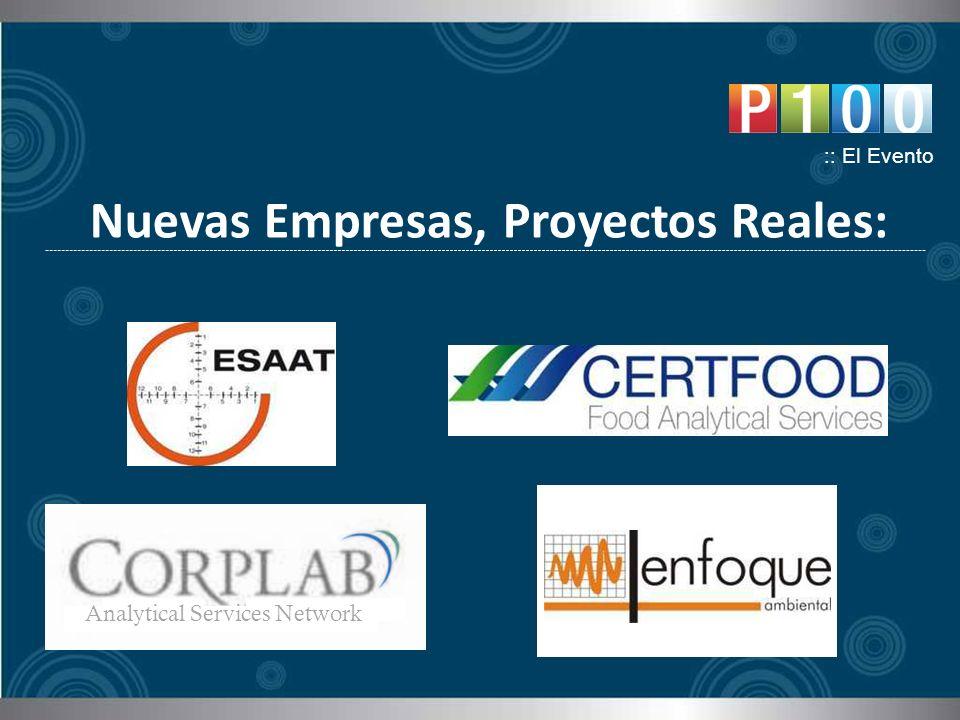 Nuevas Empresas, Proyectos Reales: :: El Evento Analytical Services Network