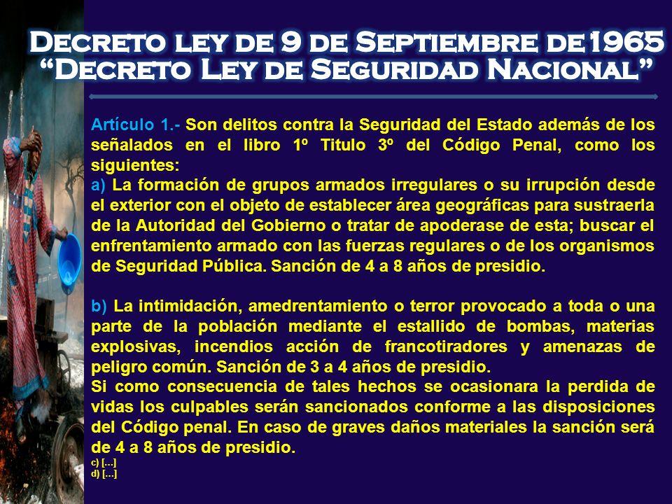 Nicolás Cusicanqui Morales - nicolascusicanqui@hotmail.com Artículo 1.- Son delitos contra la Seguridad del Estado además de los señalados en el libro