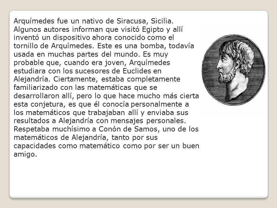 En el prefacio a De las espirales Arquímedes relata una divertida historia relativa a sus amigos de Alejandría.