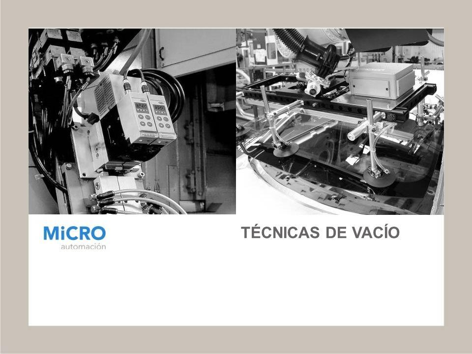 ELECCIÓN Y CÁLCULO DEL GENERADOR DE VACÍO Prestaciones de los generadores de vacío Serie SEG