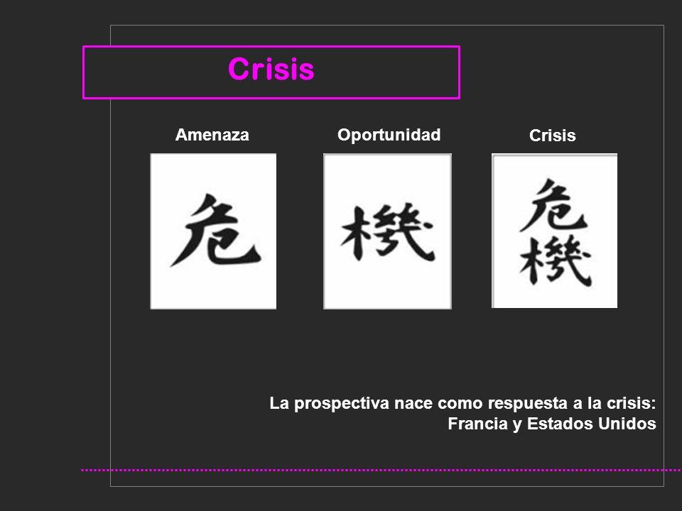 La prospectiva nace como respuesta a la crisis: Francia y Estados Unidos Crisis Oportunidad Crisis Amenaza