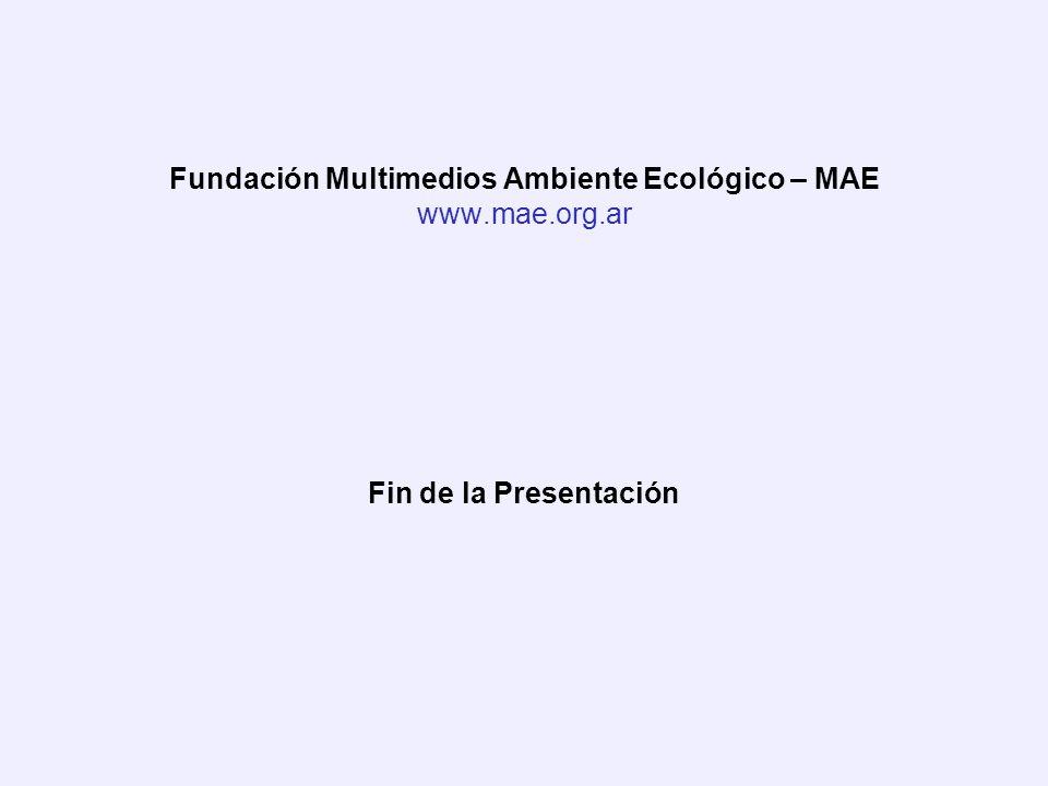 Fundación Multimedios Ambiente Ecológico – MAE www.mae.org.ar Fin de la Presentación