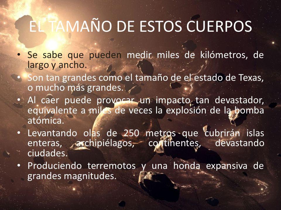 METEORÍTOS QUE CAEN DEL ESPACIO Los astrónomos de la NASA, aseguran que: En un futuro próximo, caerán sobre la tierra. Grandes cuerpos celestes, llama