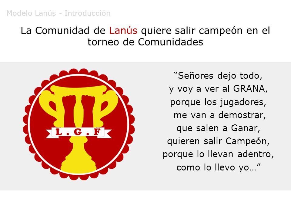 La Comunidad de Lanús quiere salir campeón en el torneo de Comunidades Señores dejo todo, y voy a ver al GRANA, porque los jugadores, me van a demostr
