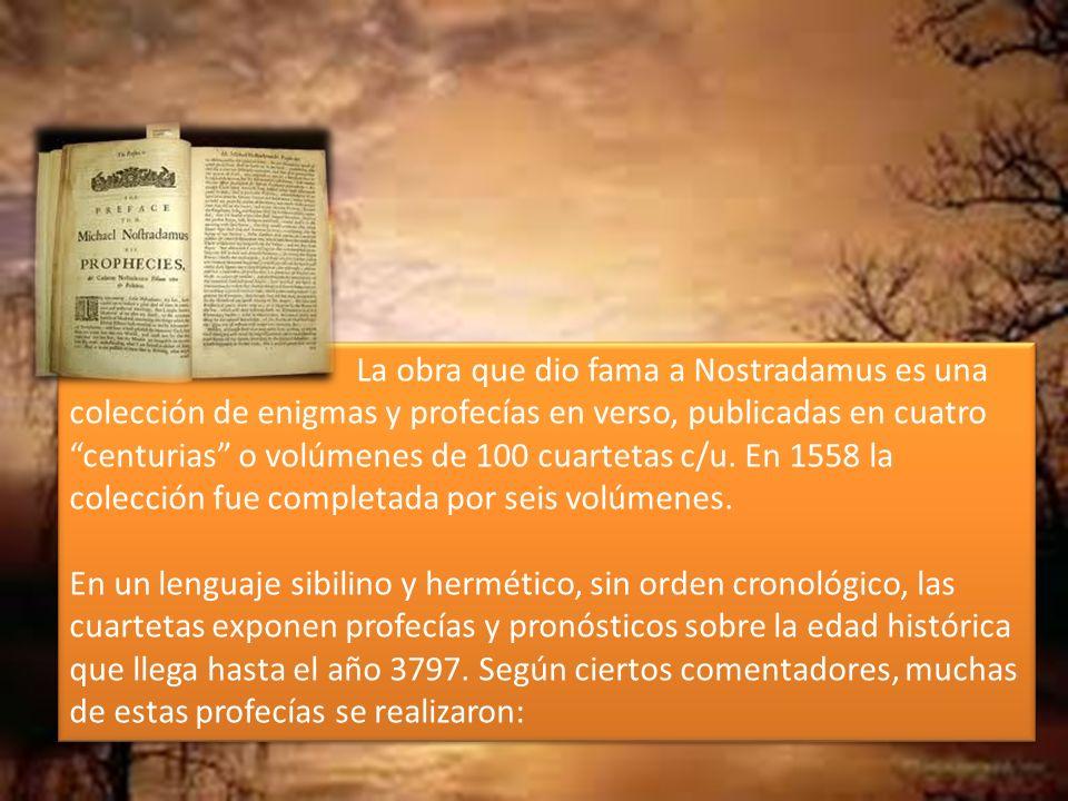 Las verdaderas centurias y profecías