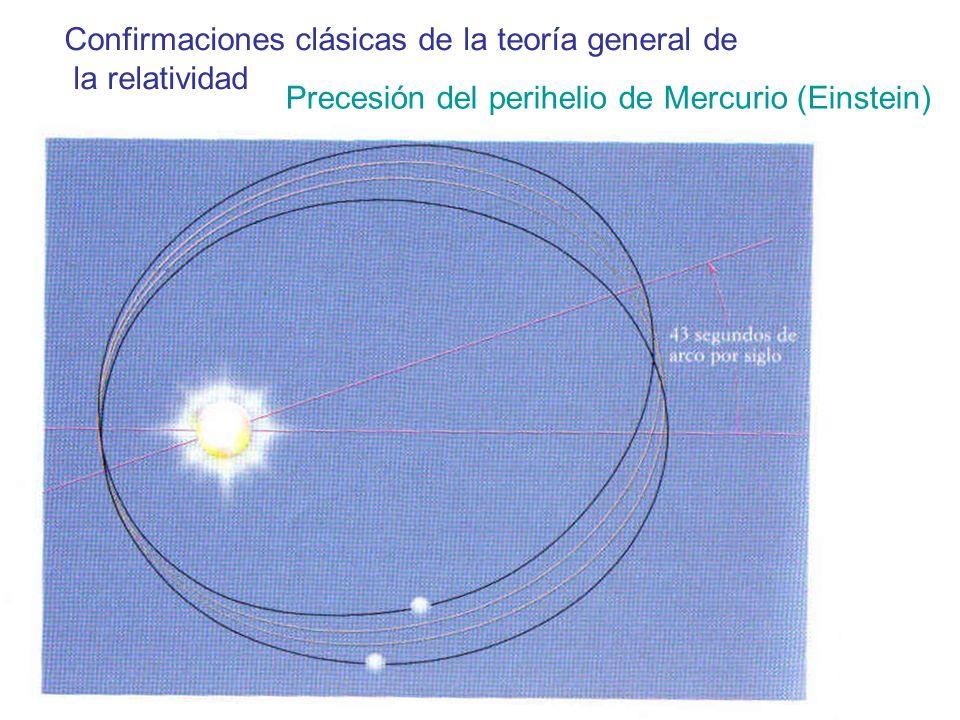 Confirmaciones clásicas de la teoría general de la relatividad Precesión del perihelio de Mercurio (Einstein)
