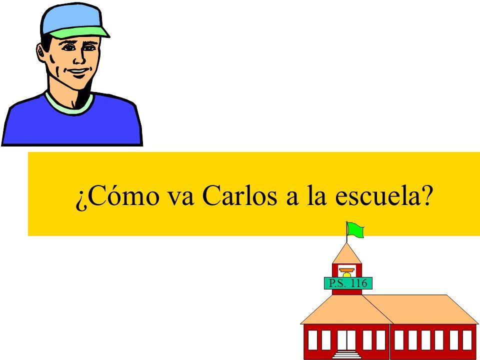 ¿Están listos para un juego muy divertido.How does Carlos go to school.