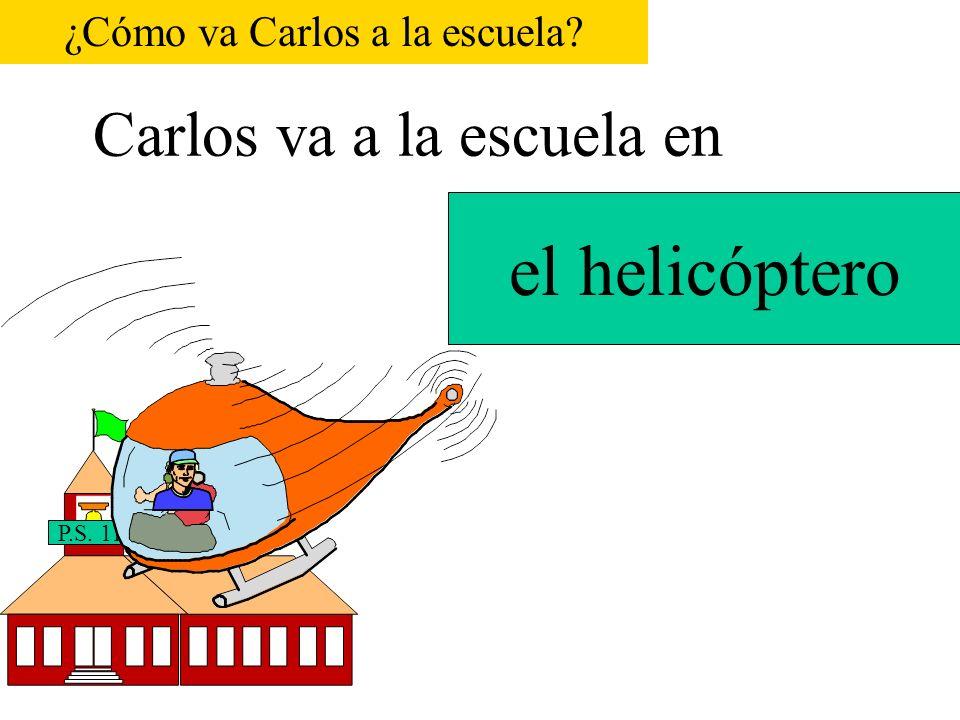 Carlos va a la escuela en P.S.116 el autobús escolar P.S.