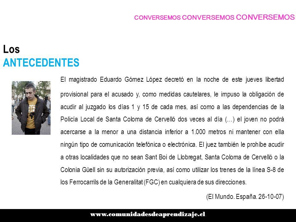 Los ANTECEDENTES El magistrado Eduardo Gómez López decretó en la noche de este jueves libertad provisional para el acusado y, como medidas cautelares,