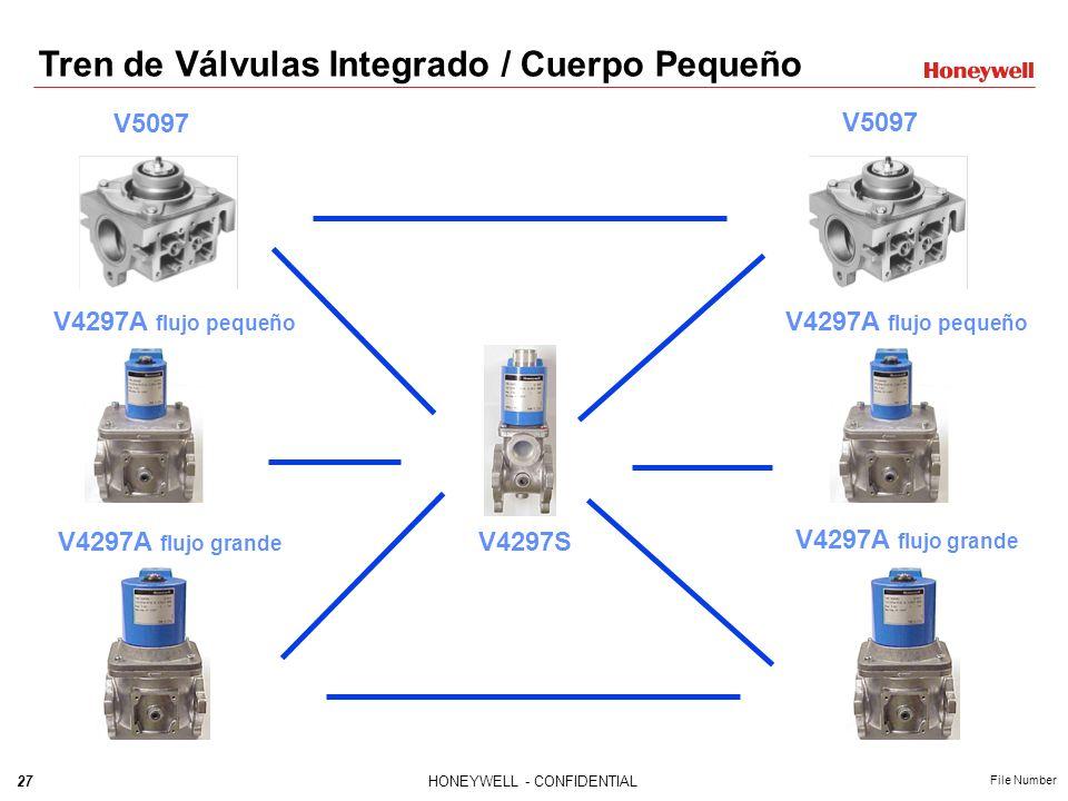 26HONEYWELL - CONFIDENTIAL File Number VALVULA DE VENTEO V4297S Válvula normalmente abierta para aplicaciones doble bloqueo-venteo Disponibles en Cuer