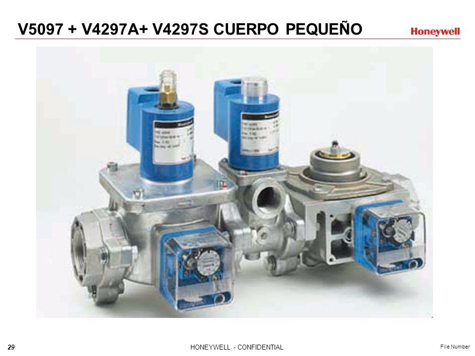 28HONEYWELL - CONFIDENTIAL File Number Tren de Válvulas Integrado / Cuerpo Grande V5097 V4297S V5097