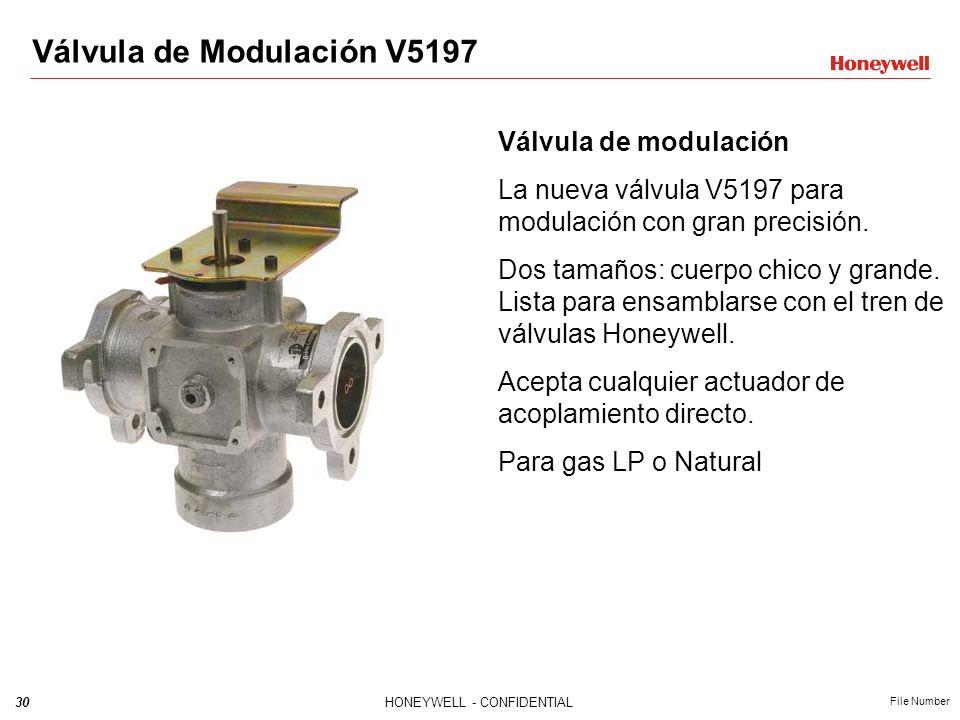 29HONEYWELL - CONFIDENTIAL File Number V5097 + V4297A+ V4297S CUERPO PEQUEÑO