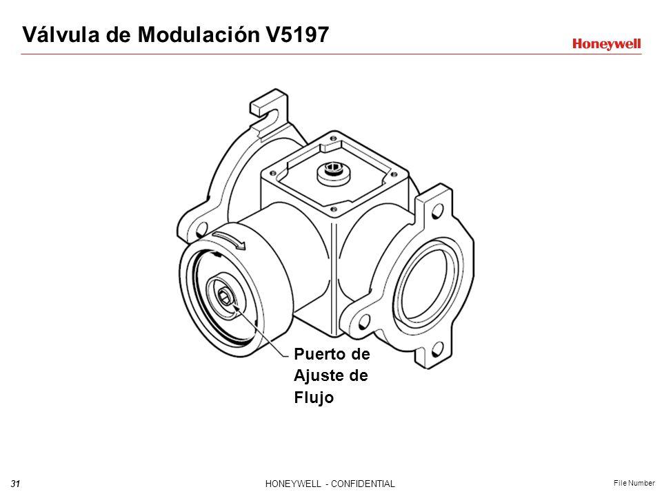 30HONEYWELL - CONFIDENTIAL File Number Válvula de Modulación V5197 Válvula de modulación La nueva válvula V5197 para modulación con gran precisión. Do