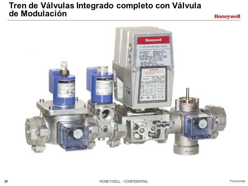 33HONEYWELL - CONFIDENTIAL File Number Válvula de Modulación V5197 Instalación Grasa Válvula V5097 3 tornillos en cada lado Brida de Adaptación