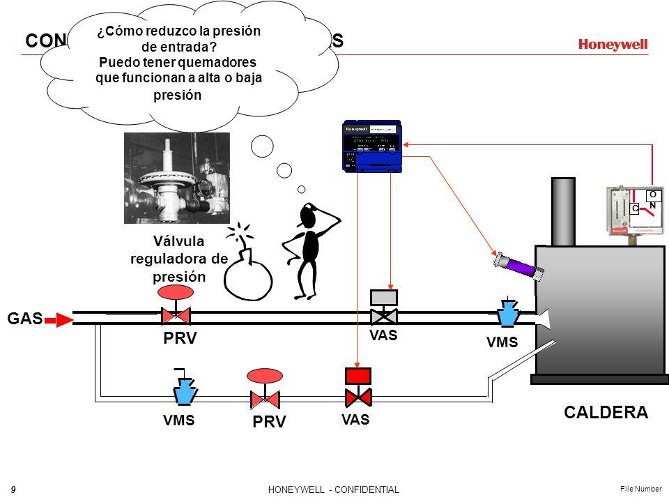 8HONEYWELL - CONFIDENTIAL File Number C ONON VMS GAS VMS VAS Con la implementación de las Válvulas Automáticas requerimos un Control Primario, un dete
