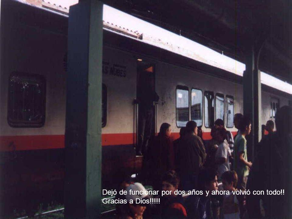 El Tren a las Nubes sale de la estación ferroviaria de Salta ( 1.187 metros sobre nivel del mar) a la mañana tempranito, a las 7 Hs.